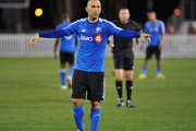 Forward Marco Di Vaio #9 of the Montreal Impact ssets for play against the Columbus Crew in the final round of the Disney Pro Soccer Classic on February 23, 2013 at the ESPN Wide World of Sports Complex in Orlando, Florida.