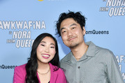 "(L-R) Awkwafina and Dumbfoundead attend Comedy Central's ""Awkwafina is Nora From Queens"" Premiere Party at Valentine DTLAon January 15, 2020 in Los Angeles, California."