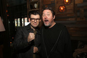 "Comedians Moshe Kasher and Doug Benson attend Comedy Central's ""Problematic with Moshe Kasher"" viewing party at HYDE Sunset: Kitchen + Cocktails on April 25, 2017 in West Hollywood, California."