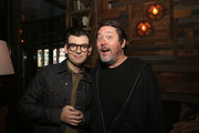 "Comedians Moshe Kasher and Doug Benson attend Comedy Central's the ""Problematic with Moshe Kasher"" viewing party at HYDE Sunset: Kitchen + Cocktails on April 25, 2017 in West Hollywood, California."
