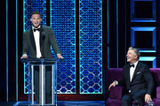 (L-R) Blake Griffin roasts Alec Baldwin onstage during the Comedy Central Roast of Alec Baldwin at Saban Theatre on September 07, 2019 in Beverly Hills, California.