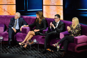 (L-R) Robert De Niro, Caitlyn Jenner, Adam Carolla and Caroline Rhea react onstage during the Comedy Central Roast of Alec Baldwin at Saban Theatre on September 07, 2019 in Beverly Hills, California.