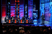 Actor/rapper Ludacris (far R) speaks as (L-R) comedians Hannibal Buress and Chris D'Elia, TV personality Martha Stewart, rapper Snoop Dogg, and honoree Justin Bieber look on onstage at The Comedy Central Roast of Justin Bieber at Sony Pictures Studios on March 14, 2015 in Los Angeles, California. The Comedy Central Roast of Justin Bieber will air on March 30, 2015 at 10:00 p.m. ET/PT.