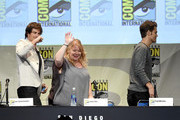 """Actor Ian Somerhalder, producer Julie Plec and actor Paul Wesley attend the """"The Vampire Diaries"""" panel during Comic-Con International 2015 at the San Diego Convention Center on July 12, 2015 in San Diego, California."""