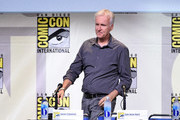 "Director James Cameron attends the ""Aliens: 30th Anniversary"" panel during Comic-Con International 2016 at San Diego Convention Center on July 23, 2016 in San Diego, California."
