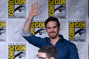 "Actor Colin O'Donoghue (top) and writer/producer Adam Horowitz attend the ""Once Upon A Time"" panel during Comic-Con International 2016 at San Diego Convention Center on July 23, 2016 in San Diego, California."