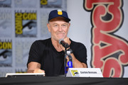 """Actor Corbin Bernsen speaks onstage at the """"Psych"""" reunion and movie sneak peek during Comic-Con International 2017 at San Diego Convention Center on July 21, 2017 in San Diego, California."""
