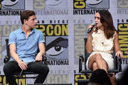 Actors Tye Sheridan and Olivia Cooke attend the Warner Bros. Pictures Presentation during Comic-Con International 2017 at San Diego Convention Center on July 22, 2017 in San Diego, California.