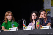 """(L-R) Jane Levy, Melanie Lynskey and Bill Skarsgard speak onstage at Hulu's World Premiere Screening of """"Castle Rock"""" during Comic-Con International 2018 at San Diego Convention Center on July 20, 2018 in San Diego, California."""