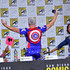 John Barrowman Photos - John Barrowman and Aisha Tyler speak onstage at The Great Debate panel hosted by SYFY WIRE during Comic-Con International 2018 at San Diego Convention Center on July 19, 2018 in San Diego, California. - Comic-Con International 2018 - SYFY WIRE Hosts The Great Debate