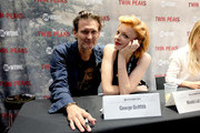 "George Griffith (L) and Nicole LaLiberte attend ""Twin Peaks"" autograph signings and fan events during  Comic-Con International 2018 at San Diego Convention Center on July 20, 2018 in San Diego, California."