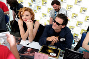"Nicole LaLiberte (L) and George Griffith attend ""Twin Peaks"" autograph signings and fan events during  Comic-Con International 2018 at San Diego Convention Center on July 20, 2018 in San Diego, California."