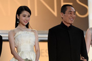 "Chinese actress Zhang Huiwen and Chinese director Zhang Yimou attend the ""Gui Lai"" premiere during the 67th Annual Cannes Film Festival on May 20, 2014 in Cannes, France."
