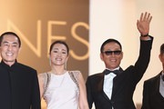 "Zhang Yimou, Chinese actress Gong Li, Chinese actor Chen Daoming  attend the ""Gui Lai"" premiere during the 67th Annual Cannes Film Festival on May 20, 2014 in Cannes, France."