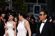 "Actors Zhang Huiwen, Gong Li and Chen Daoming attend the ""Gui Lai"" premiere during the 67th Annual Cannes Film Festival on May 20, 2014 in Cannes, France."