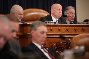House Ways and Means Committee Chairman Kevin Brady (R-TX) (2nd R) and ranking member Rep. Richard Neal (D-MA) (R) listen to testimony during a hearing in the Longworth House Office Building on Capitol Hill March 22, 2018 in Washington, DC. The committee heard testimony from U.S. Commerce Secretary Wilbur Ross testified about the Trump Administration' tarriffs imposed on foreign steel and aluminum that are set to go into affect on Friday.