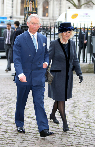 Camilla, Duchess of Cornwall and Prince Charles, Prince of Wales attend the Observance for Commonwealth Day Service At Westminster Abbey on March 9, 2015 in London, England.