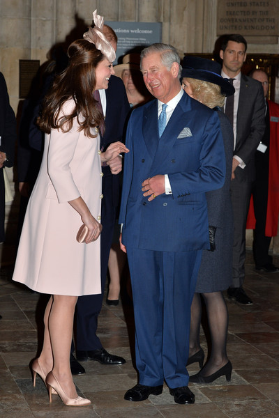 Catherine, Duchess of Cambridge and Prince Charles, Prince of Wales attend the Observance for Commonwealth Day Service At Westminster Abbey on March 9, 2015 in London, England.
