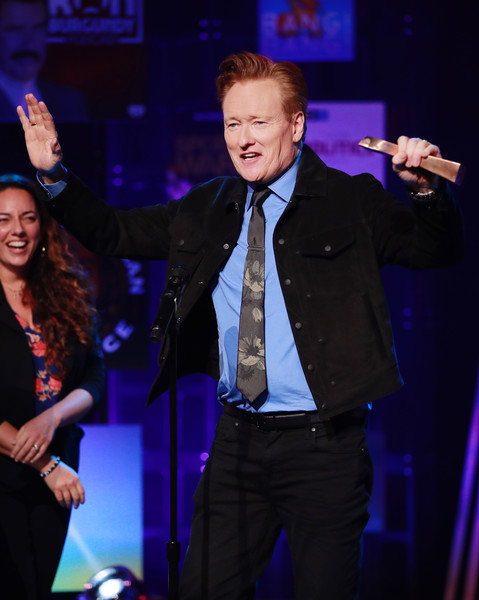 The 2020 iHeartRadio Podcast Awards – Show [best comedy podcast,performance,entertainment,music artist,event,performing arts,singing,singer,public event,musician,talent show,conan o\u00e2,tmbrien,tmbrien needs a friend,iheartradio podcast awards,award,iheartradio theater,burbank,california,show,conan obrien,mike sweeney,primetime emmy award for outstanding writing - variety series,emmy award,television,primetime emmy award,television presenter,musician,concert,photography]