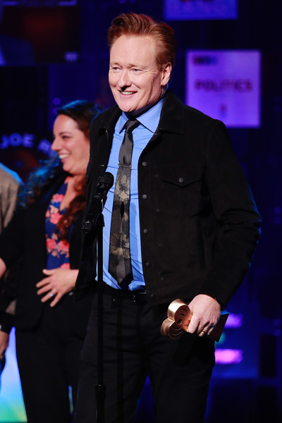 The 2020 iHeartRadio Podcast Awards – Show [best comedy podcast,event,performance,suit,formal wear,premiere,award,music artist,performing arts,conan o\u00e2,tmbrien,tmbrien needs a friend,iheartradio podcast awards,award,iheartradio theater,burbank,california,show,conan obrien,dolores oriordan,iheartradio,stock photography,musician,tv personality,the cranberries,image,photograph]