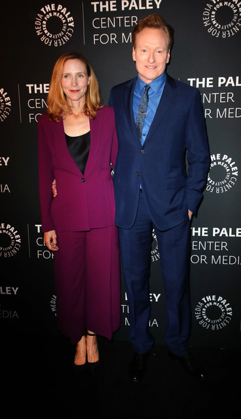 The Paley Honors: A Special Tribute To Television's Comedy Legends - Arrivals [suit,formal wear,pantsuit,tuxedo,fashion,premiere,event,white-collar worker,carpet,paley honors: a special tribute to televisions comedy legends - arrivals,the paley honors: a special tribute to televisions comedy legends,beverly wilshire four seasons hotel,beverly hills,california,conan obrien,liza powel obrien]