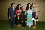 (L-R) Mayor of Florence Dario Nardella, Angela Missoni, Rosita Missoni, Teresa Missoni and Nadja Swarovski attend the Conde' Nast International Luxury Conference Welcome Reception at Four Seasons Hotel Firenze on April 21, 2015 in Florence, Italy.