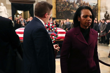Condoleezza Rice President George H.W. Bush Lies In State At US Capitol