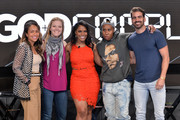 (L-R) Valeisha Butterfield Jones, Kim Swennen, Dariaha Greene, Lena Waithe and Nyle DiMarco attend Conroy Productions and Google Host their first ever Entertainment and Tech mashup event at Spruce Goose Hanger on April 06, 2019 in Los Angeles, California.