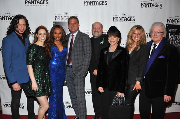 """Red Carpet Opening Night And Party - """"JEKYLL & HYDE"""" Pre-Broadway Engagement At Pantages [jekyll hyde,event,premiere,carpet,white-collar worker,award,team,red carpet,suit,jeff calhoun,deborah cox,frank wildhorn,teal wicks,constantine maroulis,yvonne roman,pre-broadway engagement at pantages,l-r,red carpet opening night and party]"""