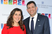 Mayim Bialik and Consul General of Israel, Los Angeles Sam Grundwerg attend a private celebration of The 70th Anniversary of Israel hosted by the Consul General of Israel, Los Angeles, Sam Grundwerg on June 10, 2018 in Los Angeles, California.