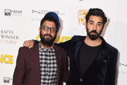 "(L to R) Actors Adeel Akhtar and Ray Panthaki attend the premiere of ""Convenience"" at Curzon Soho on September 21, 2015 in London, England."
