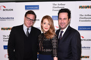 (L-R) Bob Saget, Jennifer Finnigan and Jonathan Silverman attend Cool Comedy - Hot Cuisine, A Benefit For The Scleroderma Research Foundation at Carolines On Broadway on December 8, 2015 in New York City.