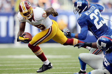 Corey Webster Josh Morgan Washington Redskins v New York Giants