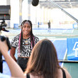 Cori Gauff American Express Courts Unveiled Ahead Of 2021 US Open Tennis Tournament