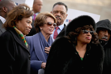Corrine Brown Pelosi And House Leadership Discuss Voting Rights Case Heard In Supreme Court