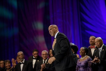 Cory Booker Hillary Clinton and President Obama Speak at the Congressional Black Caucus' Annual Phoenix Awards