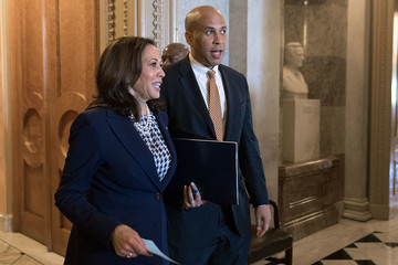 Cory Booker U.S. Senate Holds Confirmation Vote On Mike Pompeo For Secretary Of State