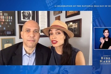 """Cory Booker """"United We Serve"""" A Celebration Of The National MLK Day Of Service"""