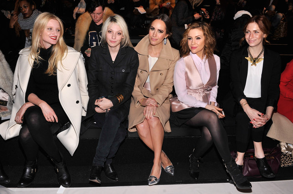 Front Row at the Marissa Webb Show [fashion,event,fashion model,fashion show,public event,performance,fashion design,outerwear,runway,haute couture,marissa webb,louise roe,alyssa milano,cory kennedy,candice lake,front row,l-r,the salon,mercedes-benz fashion week,fashion show]