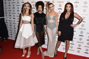 Jade Thirlwall, Leigh-Ann Pinnock, Perrie Edwards and Jesy Nelson of Little Mix attend the Cosmopolitan Ultimate Women Of The Year Awards at One Mayfair on December 2, 2015 in London, England.