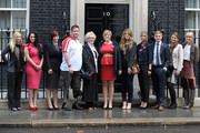 Kristen Hallenga, Louise Hawker, Chris Jackson, Lisa Hawker, Daisy Knights, Gemma Dowler, Debbie Harry, Nathan Cumberland, Rachel Cumberland and Nicole Campbell attend a special reception marking the previous night's ceremony. at 10 Downing Street on November 4, 2011 in London, England.