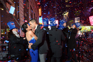 Cottrell Guidry Kat Graham Celebs Ring in 2014 on the NIVEA Kiss Stage