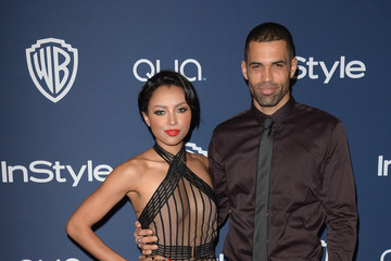 Cottrell Guidry Kat Graham Arrivals at the InStyle/Warner Bros. Golden Globes Party — Part 2