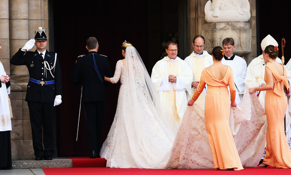 The Wedding Of Prince Guillaume Of Luxembourg & Stephanie de Lannoy - Official Ceremony [pope,event,ceremony,tradition,marriage,dress,wedding,rite,wedding dress,bride,wedding,wedding ceremony,luxembourg,church,stephanie,guillaume of luxembourg stephanie de lannoy - official ceremony,jehan de lannoy,prince,belgian countess,guillaume of luxembourg]