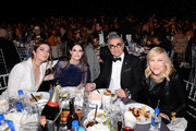 (L-R) Annie Murphy, Emily Hampshire, Eugene Levy and Catherine O'Hara pose with The Counter at the 25th Annual Critics' Choice Awards on January 12, 2020 in Santa Monica, California.