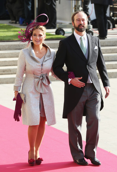 The Wedding Of Prince Guillaume Of Luxembourg & Stephanie de Lannoy - Official Ceremony [suit,clothing,fashion,pink,formal wear,hairstyle,dress,event,carpet,footwear,guillaume of luxembourg stephanie de lannoy - official ceremony,luisa de lannoy,prince,stephanie,belgian countess,christian de lannoy,count,luxembourg,wedding,wedding ceremony]