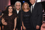 Sharon White, Ricky Skaggs, and Eddie Stubbs attend the 2018 Country Music Hall of Fame and Museum Medallion Ceremony honoring inductees Johnny Gimble, Ricky Skaggs and Dottie West at Country Music Hall of Fame and Museum on October 21, 2018 in Nashville, Tennessee.