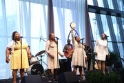 Deborah McCrary, Ann McCrary, Regina McCrary and Alfreda McCrary perform during Easter Brunch With The McCrary Sisters at Country Music Hall of Fame and Museum on March 27, 2016 in Nashville, Tennessee.