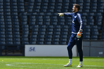 Craig Gordon Scotland Training Session and Press Conference