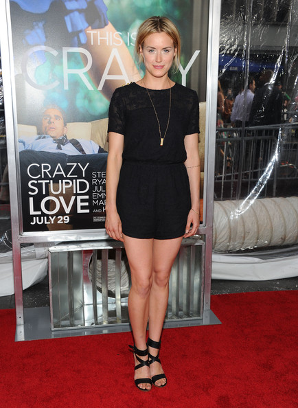 "Actress Taylor Schilling attends the ""Crazy, Stupid, Love."" World Premiere at the Ziegfeld Theater on July 19, 2011 in New York City."